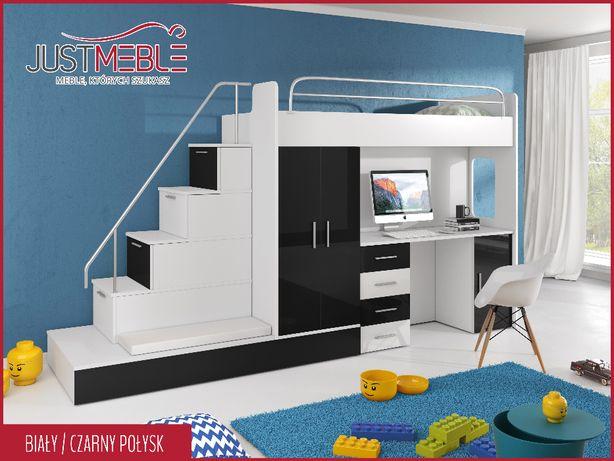 Łóżko piętrowe Raj 5 + dolny materac + siedzisko