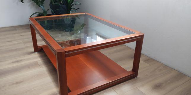 Drewno naturalneKLOSE ława stolik kawowy stół mahoń koniak lite drewno
