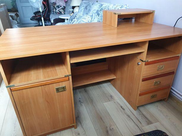 Biurko duże funkcjonalne dla studenta ucznia licealisty młodzieżowe
