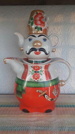 Чайник, заварник, фарфор, посуда, СССР, Козак