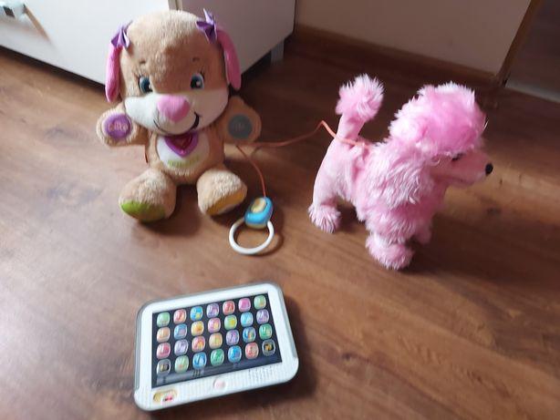 Sprzedam zabawki. Tablet Fischer price. Interaktywny piesek chodzący.