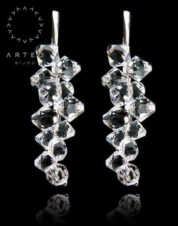 Kolczyki crystal Swarovski ślubne