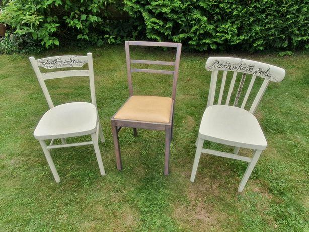 Stare krzesła, vintage, antyki, PRL