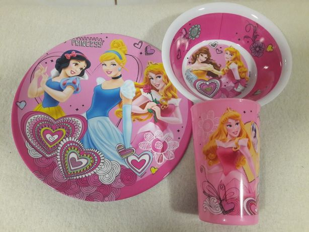 zestaw dla dzieci miseczka, talerzyk + kubek - księżniczki Disney