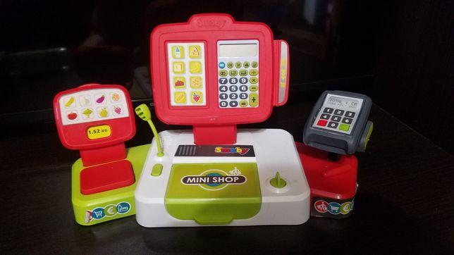 Детская электронная касса Smoby с терминалом, весами и аксессуарами