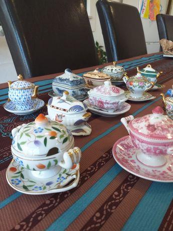 Terrinas em miniatura porcelain art