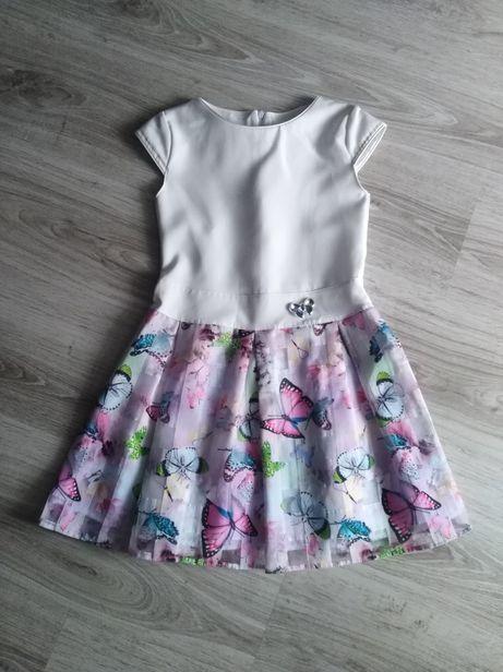 Wizytowa sukienka dla dziewczynki r. 134-140