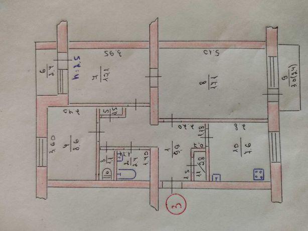 3-х ком. кв. 1/5 этаж в центре Краснограда под Коммерцию или Жилье