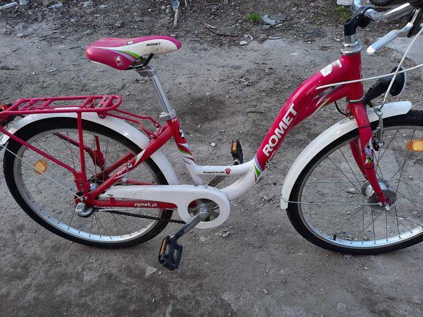 Idealny Rower dziewczęcy Romet Panda 24 cale
