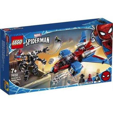 Lego 76150 Marvel Spider Man Pajęczy odrzutowiec kontra mech Venoma