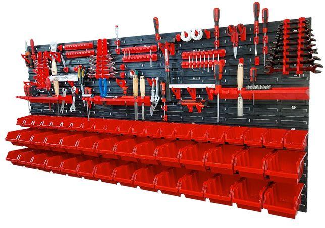 Tablica warsztatowa narzędziowa Duża 172x78cm 121 elementów kuwety