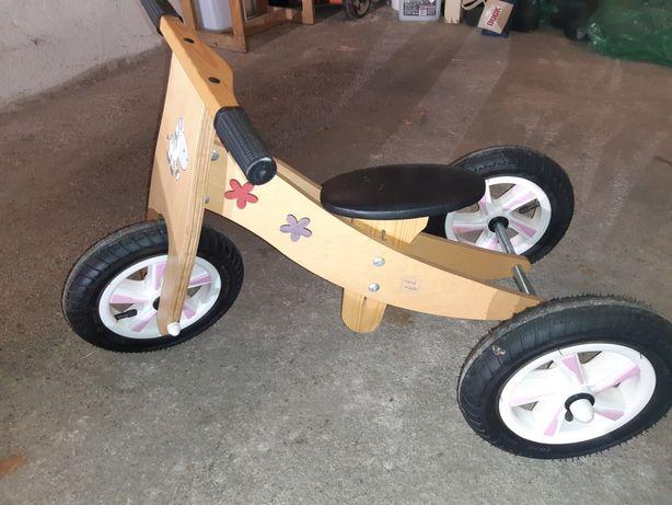 Rowerek drewniany biegowy trójkołowy