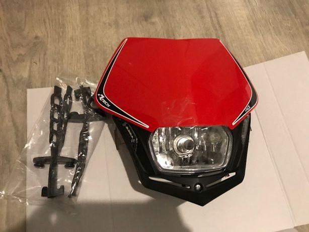 Lampa przednia V-Face Race Tech Italy Enduro Czerwona LED Homologacja