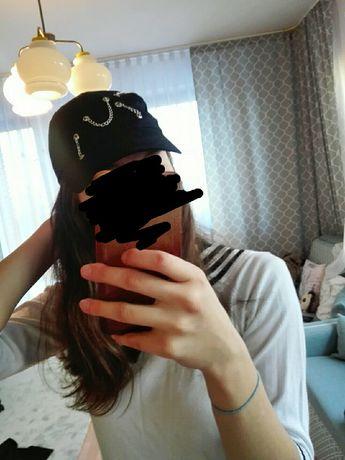 Czarna czapka z łańcuszkami kpop ulzzang tumblr bts suga korea azja