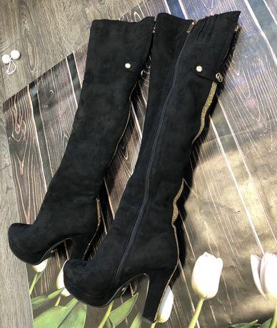 Замшеві чоботи