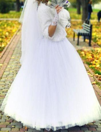Срочно!Свадебное платье в жемчужинах