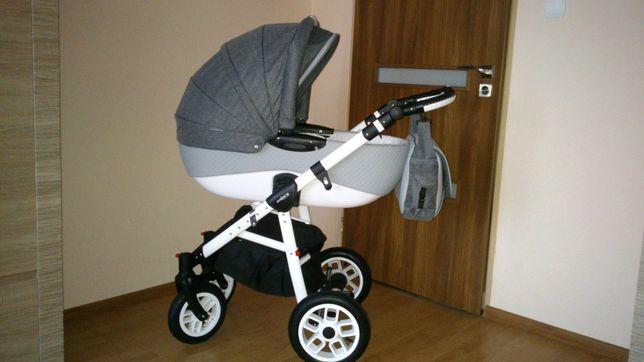 Wózek Adamex Pajero Alu eko-skóra 2w1