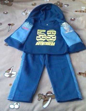 Теплый спортивный костюм на 3 года