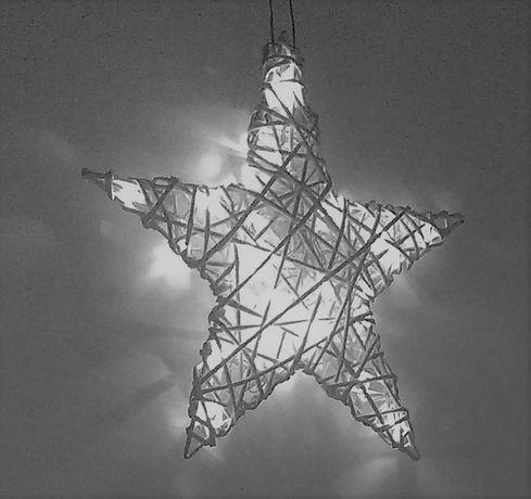 Gwiazdka dekoracja świąteczna wiklina rękodzieło !!40 cm