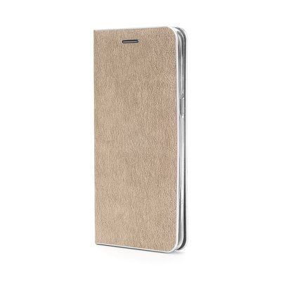 Capa Livro Horizontal Luna Prata Lmobile Iphone 12 Mini - Dourado