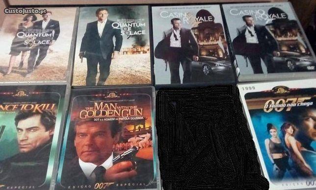 12 filmes originais 007 várias edições e box com 20 filmes