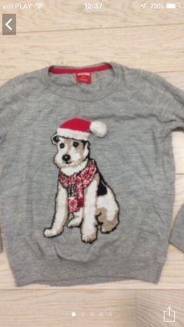 Sweter świąteczny z pieskiem
