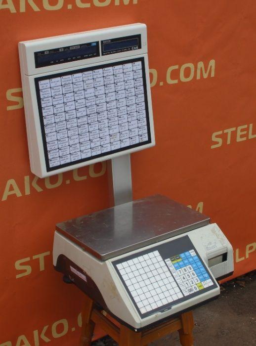 Торговые весы «CAS CL 5000 J IS», с печатью этикеток, Б/у 5454 Киев - изображение 1