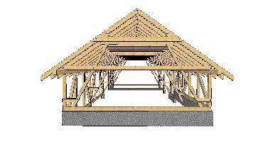 Dachy produkcja na linii  ciesielskiej