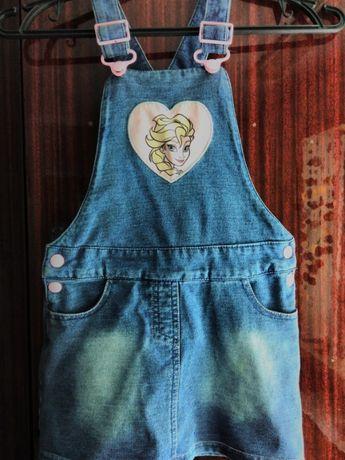 Продам джинсовый сарафан на рост98,104,110см.на возраст4,5лет