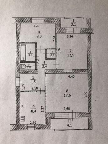 Квартира 3-ех комнатная