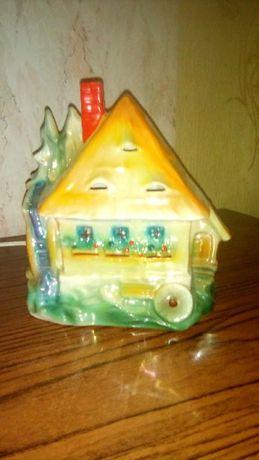 Светильник ночник фарфоровый Германия немецкий - домик с мельницей