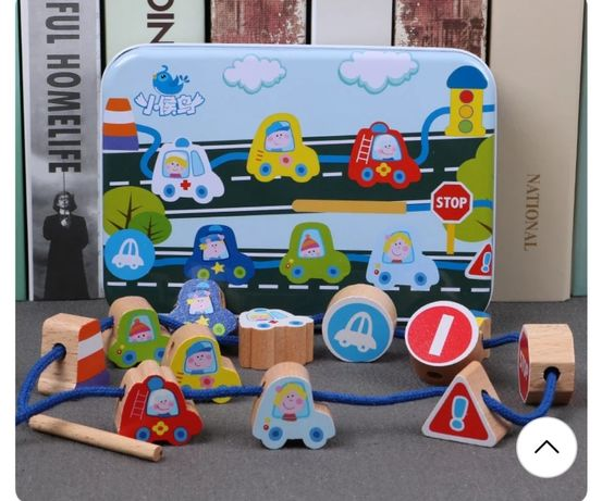 Edukacyjne drewniane zabawki