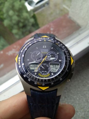 Citizen eco drive skyhawk blue angel jr3080-01l