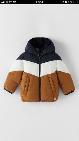 Zara!Новая коллекция !Теплая стильная куртка 74-110см Флис подкладка