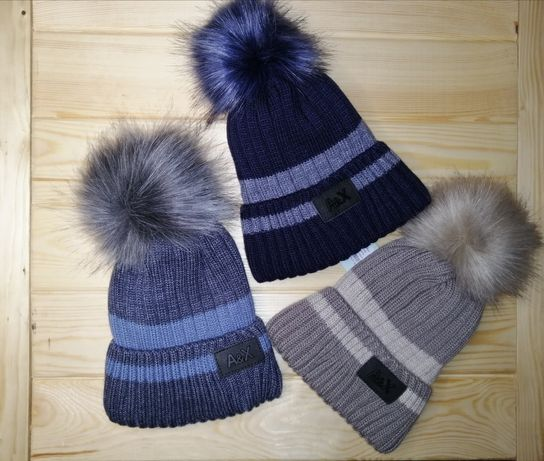 Продам зимнюю шапку на мальчика 48-50-52