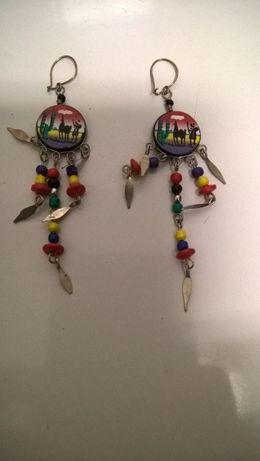 Brincos compridos coloridos (portes Incluídos)