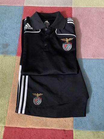Conjunto Benfica Adidas SLB - polo/camisola e calções   Novo