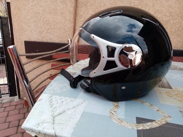 Kask motocyklowy czarny