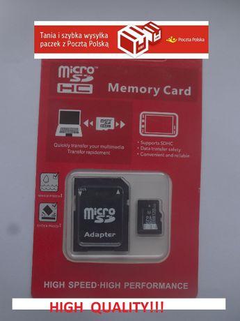 Karta pamięci micro SD SDHC 128GB CLASS 10+Adapter gratis!