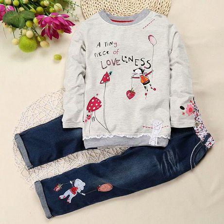 Костюм на девочку (реглан+штаны), джинси на дівчинку, р.90-130