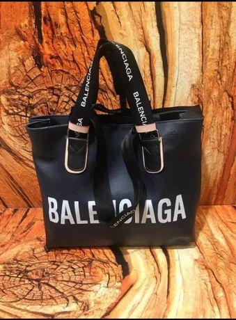 Torebka duża Balenciaga Torba Czarna skórzana Premium