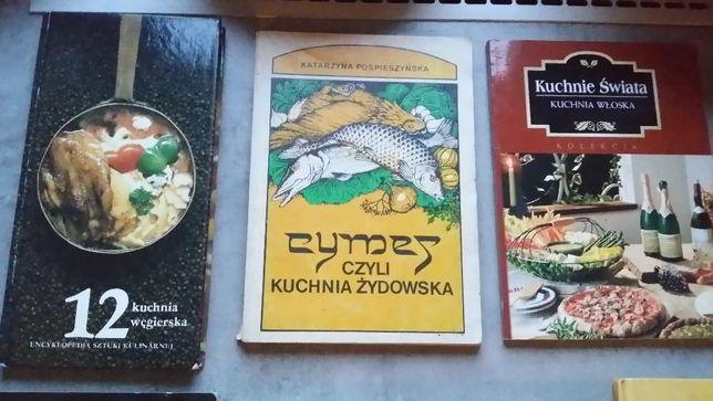 Książka kucharska - różne kilka sztuk