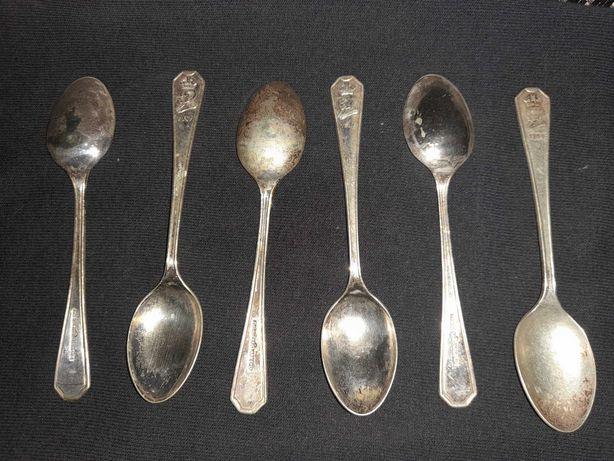 Colheres de chá em prata