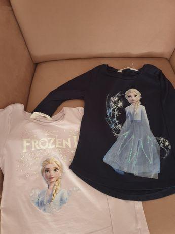 2 T-shirty H&M 110/116 frozen II