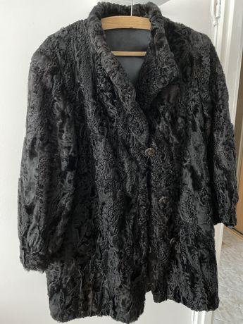 Vintage karakuły, kurtka skórzana