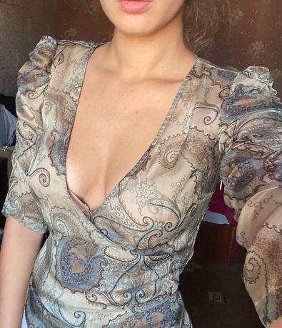 Платье Victoria's Secret шелковое пеньюар ночнушка S M