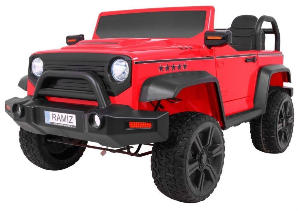 Oryginalny Jeep STRONG 4 x 4 samochód na akumulator Metalowa rama Olkusz - image 1