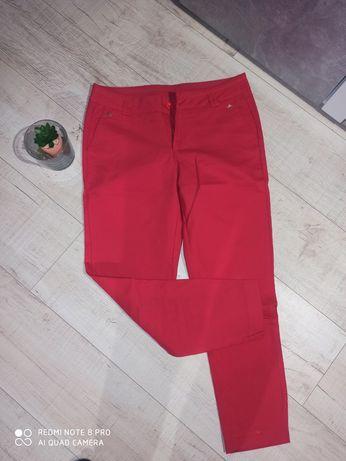 Spodnie eleganckie prostu czerwone
