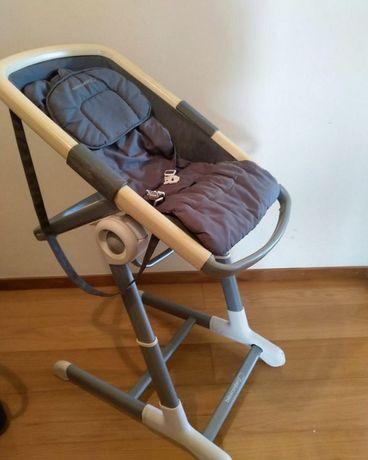 Espreguiçadeira + cadeira comida Keyo Cinza
