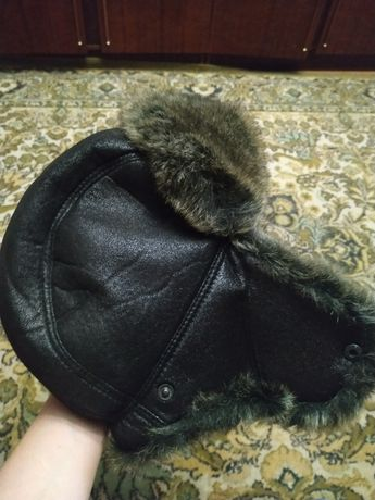 Мужская кепка-ушанка зимняя